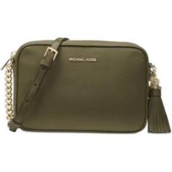 4510810f0b48 MICHAEL Michael Kors Bags | Michael Kors Ginny Olive Md Leather ...